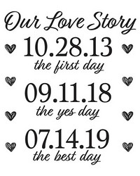 Our Love Story Wall Quote by