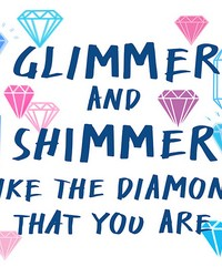 Glimmer and Shimmer Wall Quote  by  Brewster Wallcovering