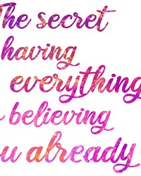 Secret To Everything Wall Quote  by