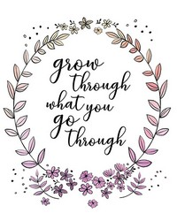 Grow Through Wall Quote  by