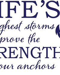 Strong Anchor Wall Quote  by