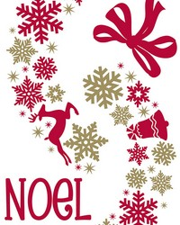 Holiday Wreath Wall Stickers by