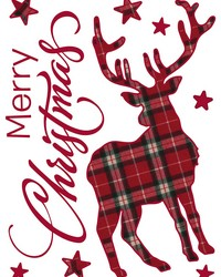 Tartan Stags Wall Stickers by