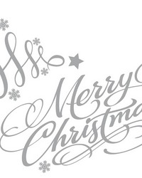 Silver Holiday Tree Wall Stickers by