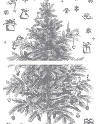 Sketched Holiday Tree Wall Stickers by