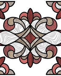Red Westwood Stained Glass Decal by