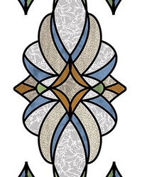 Blue Meridan Stained Glass Decal by