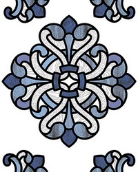 Blue Medici Stained Glass Decal by