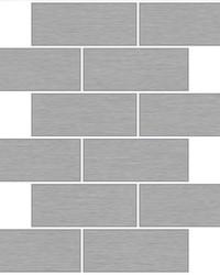 Metro Brushed Silver Peel & Stick Backsplash Tiles by