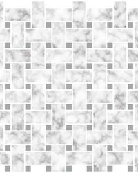 Basketweave Carrara Peel & Stick Backsplash Tiles by