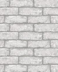 Cambridge Brick Grey Peel & Stick Wallpaper by