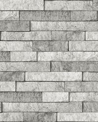 Grey Stone Peel & Stick Backsplash  by  Brewster Wallcovering