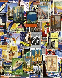 Vintage Travel Poster Wall Mural by