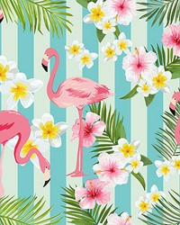 Flamingos Wall Mural by