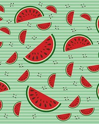 Watermelons with Mint Vintage Backdrop Wall Mural by