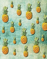 Tropical Pineapples Wall Mural by