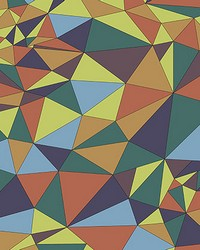 Multicolored Polygons Wall Mural by