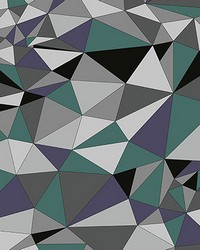 Grey Polygons Wall Mural by