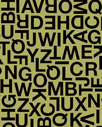 Alphabetic Characters Wall Mural by