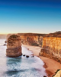 Cliff At Sunset In Australia Wall Mural by