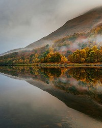 Mystical Lake In Scotland Wall Mural by