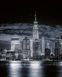 Skyline Of Manhattan Wall Mural by