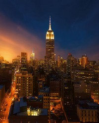 Empire State Building New York Wall Mural by