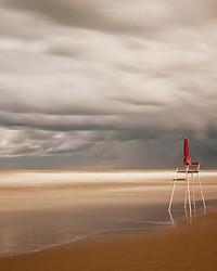 Chair At The Beach Wall Mural by