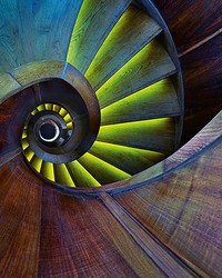 Spiral Staircase Wall Mural by