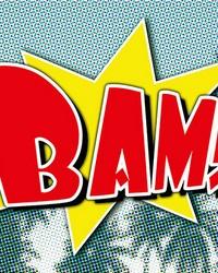 Bam Comic Wall Mural by