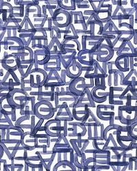 Blue Urban Typography Wall Mural by