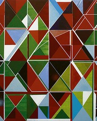 Multicolored Geometric Mural Wall Mural by