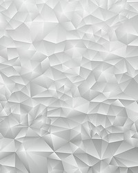 White 3D Triangles Wall Mural by