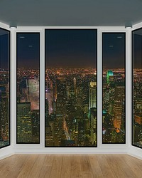 3D Panorama Window View Wall Mural by