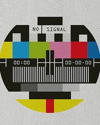 No Signal Old School Wall Mural by