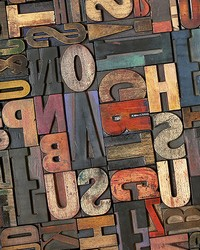 Vintage Letters Wall Mural by