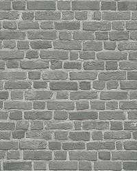 Brick Wall Black Wall Mural by