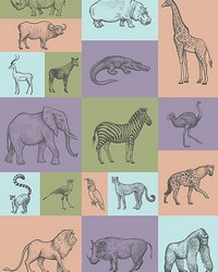 Animal Illustrations Wall Mural by