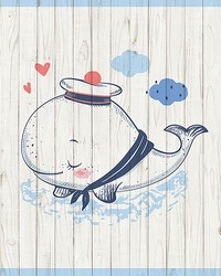 Sleeping Whale Wall Mural by