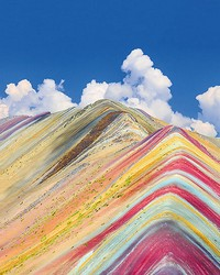 Rainbow Mountain Peru Wall Mural by