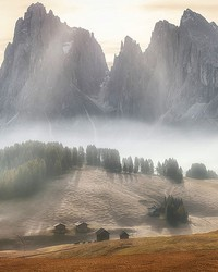 Misty Mountains Wall Mural by