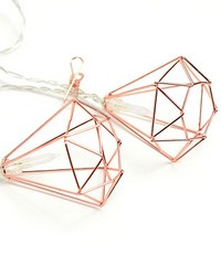 Rose Gold Diamond Clip String Lights by
