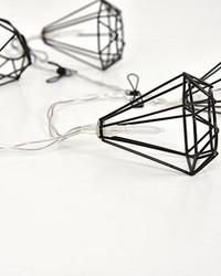 Matte Black Diamond Clip String Lights by