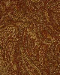Brown Classic Paisley Fabric  Bombona Toffee