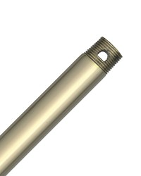 12in Extension Downrod - Hunter Bright Brass Finish