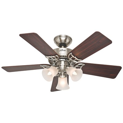 hunter fan Southern Breeze - 42in Brushed Nickel Three Light Kit 51011 FAN Southern Breeze 42in Brushed Nickel Three Light Kit