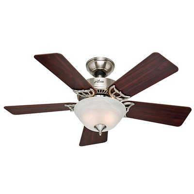 hunter fan The Kensington - 42in Brushed Nickel Bowl Light Kit 51015 FAN The Kensington 42in Brushed Nickel Bowl Light Kit