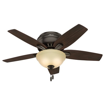 hunter fan Newsome Collection - 42in Premier Bronze Low Profile Bowl Light Kit 51081 FAN Newsome 42in Premier Bronze Low Profile Bowl Light Kit