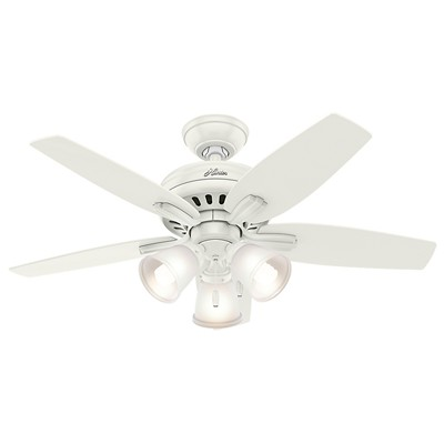 hunter fan Newsome Collection - 42in Fresh White Three Light Kit 51083 FAN Newsome 42in Fresh White Three Light Kit