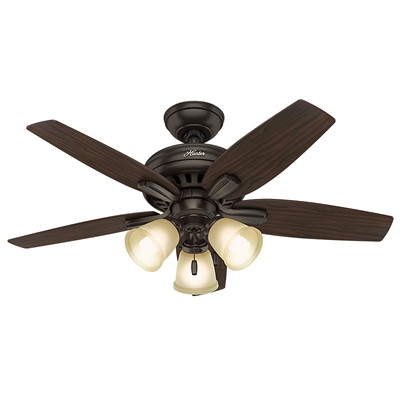 hunter fan Newsome Collection - 42in Premier Bronze Three Light Kit 51084 FAN Newsome 42in Premier Bronze Three Light Kit